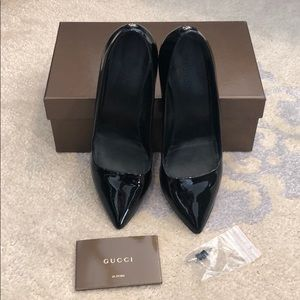 Gucci Black Patent Pumps-8.5